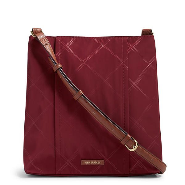 Vera Bradley Preppy Poly Molly Crossbody in Claret