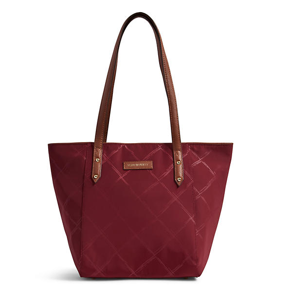 Vera Bradley Preppy Poly Small Ella Tote in Claret