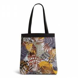 Vera Bradley Lighten Up Front Zip Tote in Painted Feathers