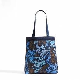Vera Bradley Lighten Up Front Zip Tote in Java Floral