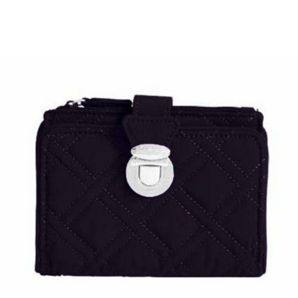 Vera Bradley Pushlock Wallet in Black