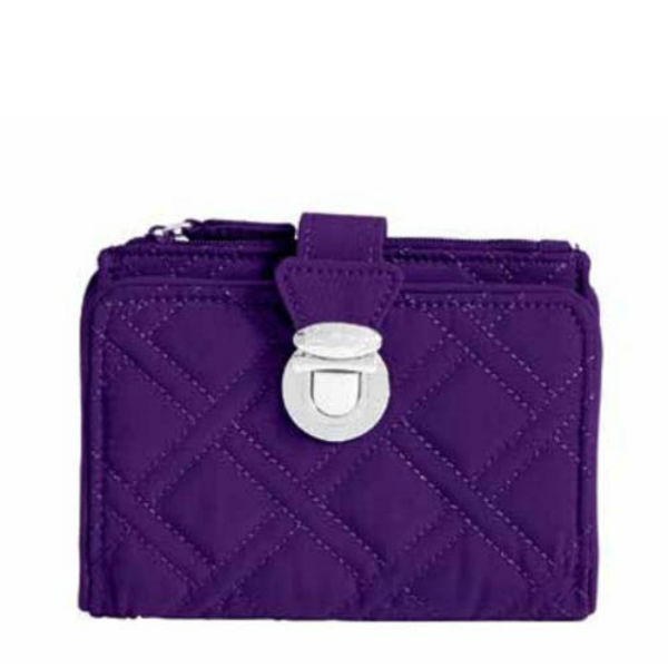Vera Bradley Pushlock Wallet in Elderberry
