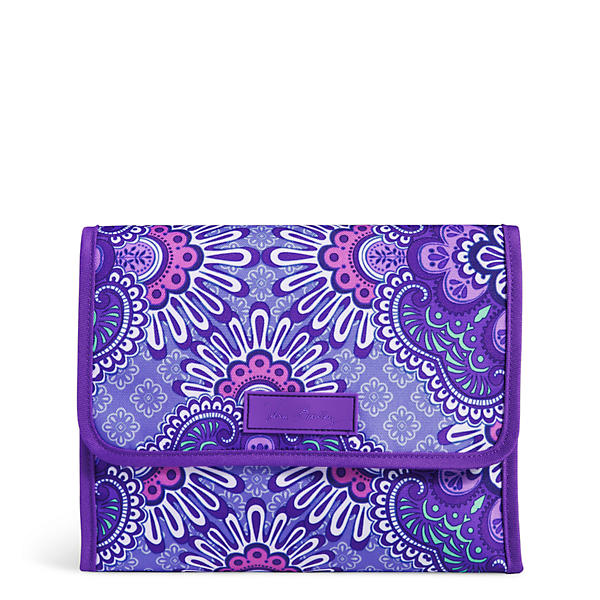 Vera Bradley Stow and Go Travel Jewelry Folio in Lilac Tapestry
