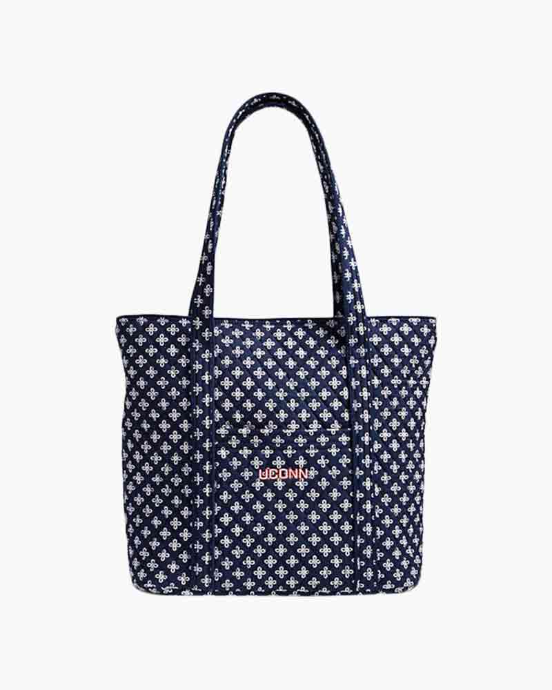 Vera Bradley Vera 2.0 Tote in Navy/White Mini Concerto with U Conn Logo