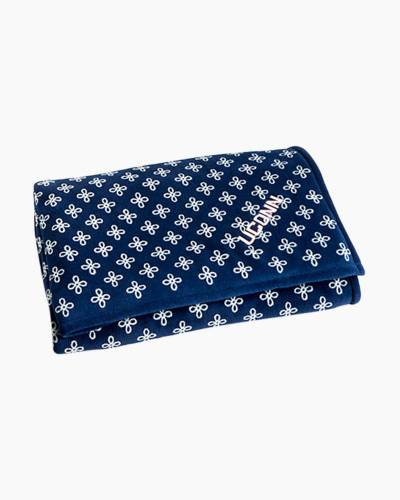 XL Throw Blanket in Navy/White Mini Concerto with UConn Logo