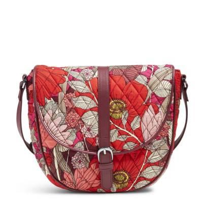 Slim Saddle Bag in Bohemian Blooms