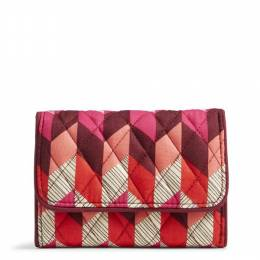 Vera Bradley Riley Compact Wallet in Bohemian Chevron