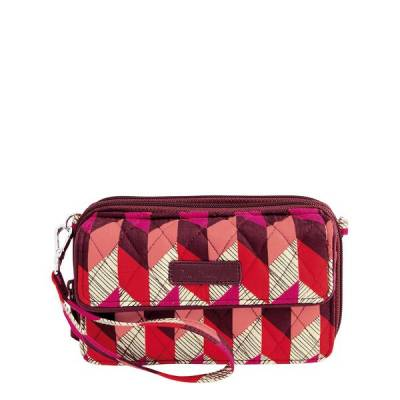 All in One Crossbody and Wristlet for iPhone 6+ in Bohemian Chevron