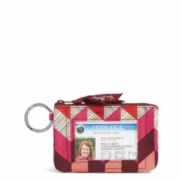 Vera Bradley Zip ID Case in Bohemian Chevron