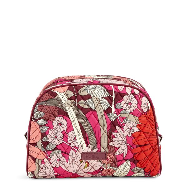 Vera Bradley Large Zip Cosmetic in Bohemian Blooms