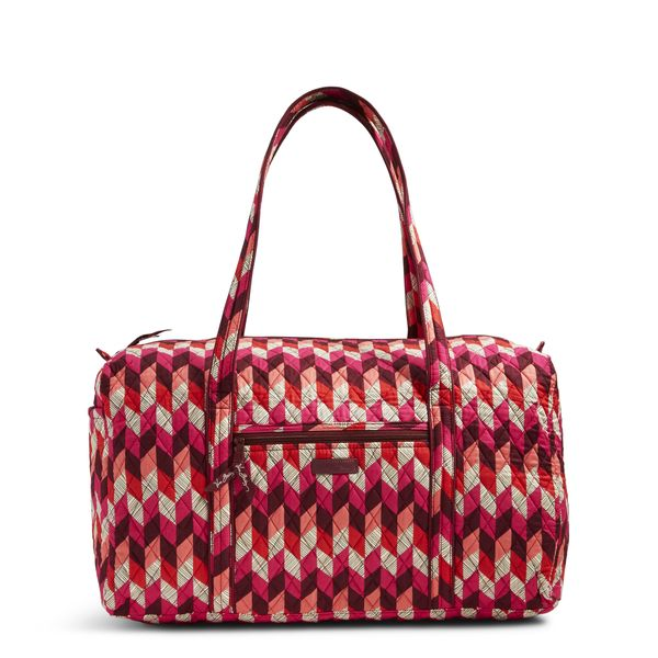 Vera Bradley Large Duffel Travel Bag in Bohemian Chevron