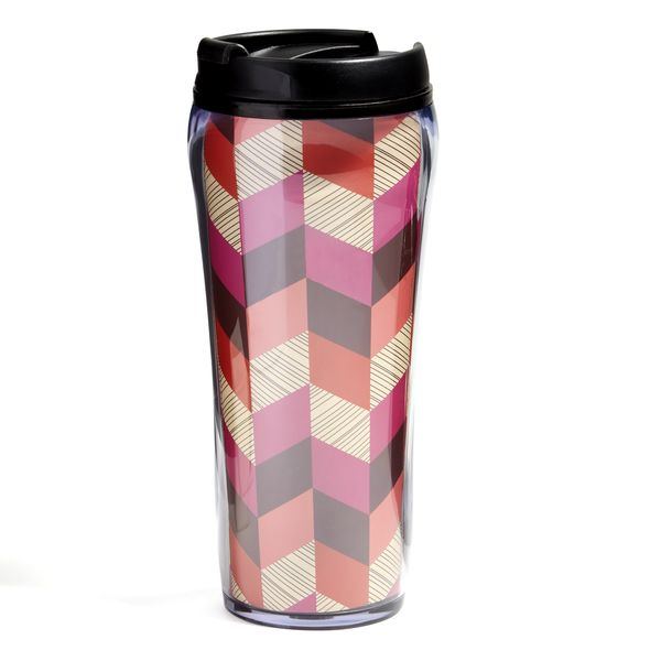 Vera Bradley Travel Mug in Bohemian Chevron