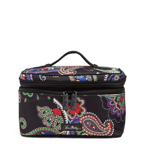 Vera Bradley Lighten Up Brush Up Cosmetic Case in Kiev Paisley