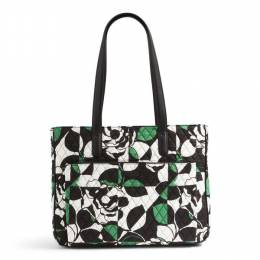 Vera Bradley Commuter Tote in Imperial Rose with Black