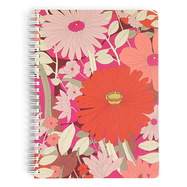 Vera Bradley Mini Notebook with Pocket in Bohemian Blooms