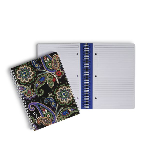 Vera Bradley Mini Notebook with Pocket in Kiev Paisley