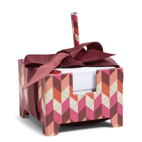 Vera Bradley Note Cube and Mini Pen in Bohemian Chevron