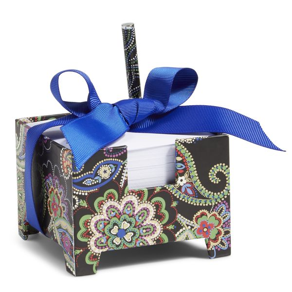 Vera Bradley Note Cube and Mini Pen in Kiev Swirls