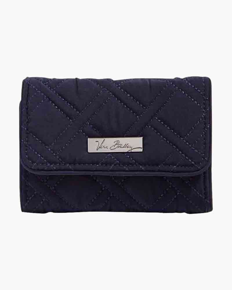 Vera Bradley Riley Compact Wallet in Navy