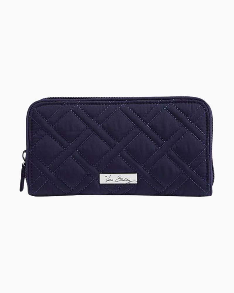 Vera Bradley RFID Georgia Wallet in Navy