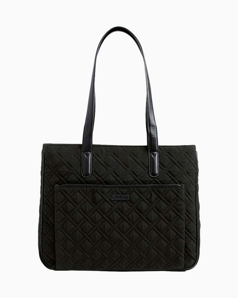 Vera Bradley Commuter Tote in Classic Black with Black
