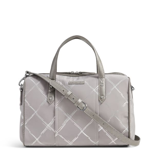 Vera Bradley Preppy Poly Marlo Satchel in Burnished Pewter