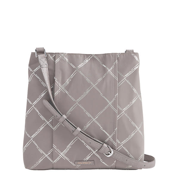 Vera Bradley Preppy Poly Molly Crossbody in Burnished Pewter
