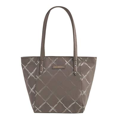 Preppy Poly Small Ella Tote in Burnished Pewter