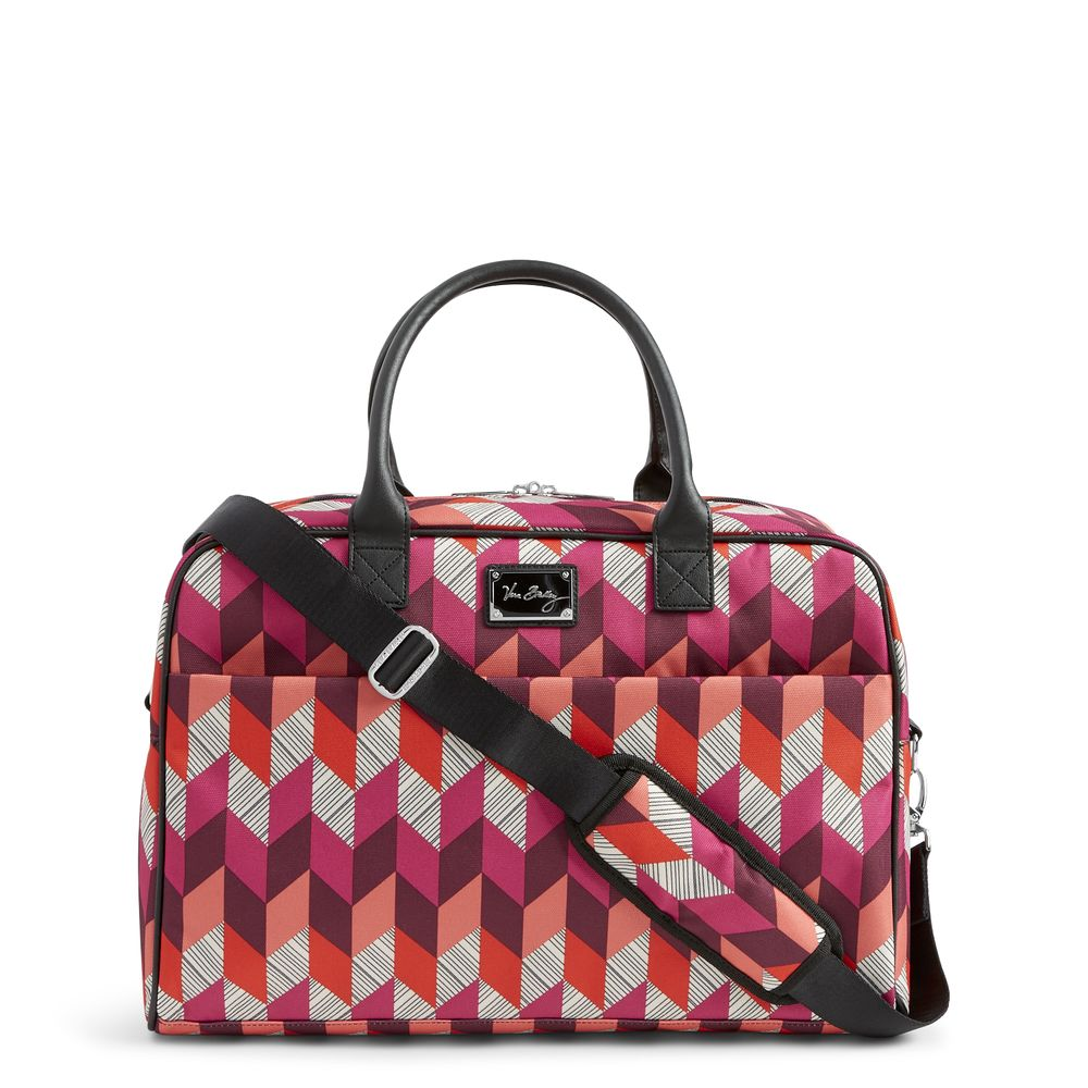 Vera Bradley Jet Set Go Weekender Travel Bag in Bohemian Chevron