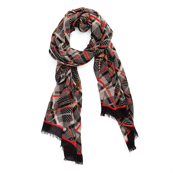 Vera Bradley Soft Fringe Scarf in Sofia Plaid