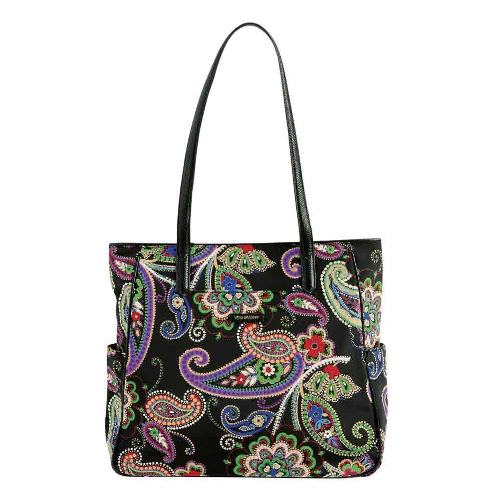 Vera Bradley Preppy Poly Zip Top Tote in Kiev Paisley