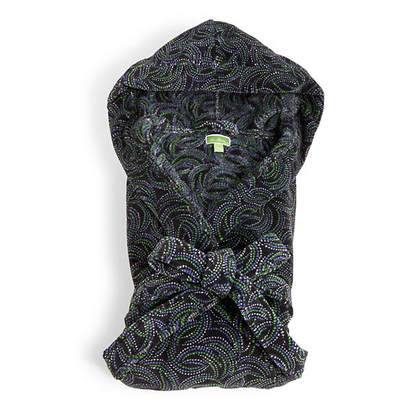 Vera Bradley Hooded Fleece Robe in Kiev Swirls