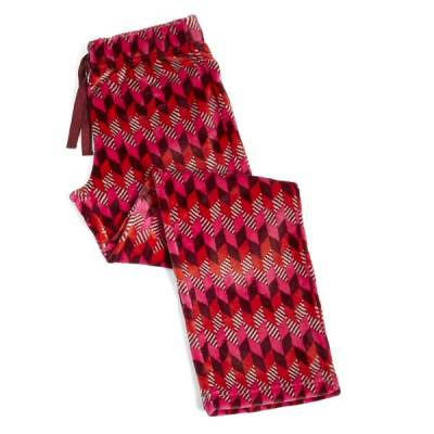 Cozy Fleece Pajama Pants in Bohemian Chevron