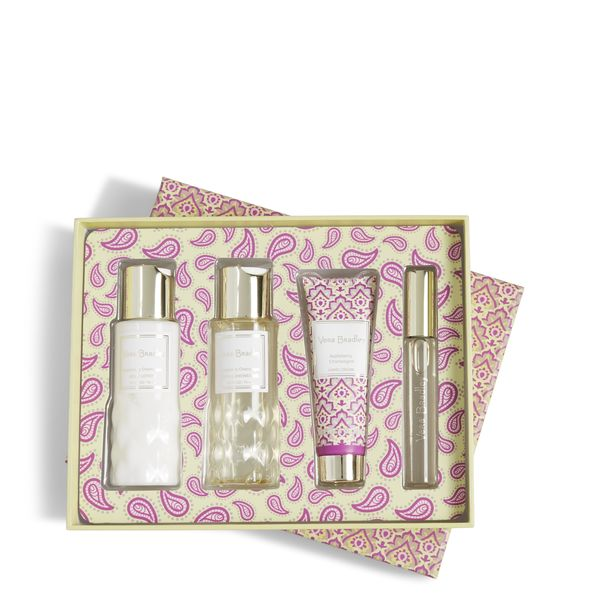 Vera Bradley Discovery Travel Set in Appleberry Champagne