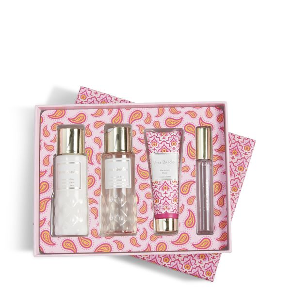 Vera Bradley Discovery Travel Set in Macaroon Rose