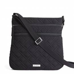 Vera Bradley Keep Charged Triple Zip Hipster in Classic Black