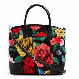 Vera Bradley Day Off Satchel in Havana Rose with Black