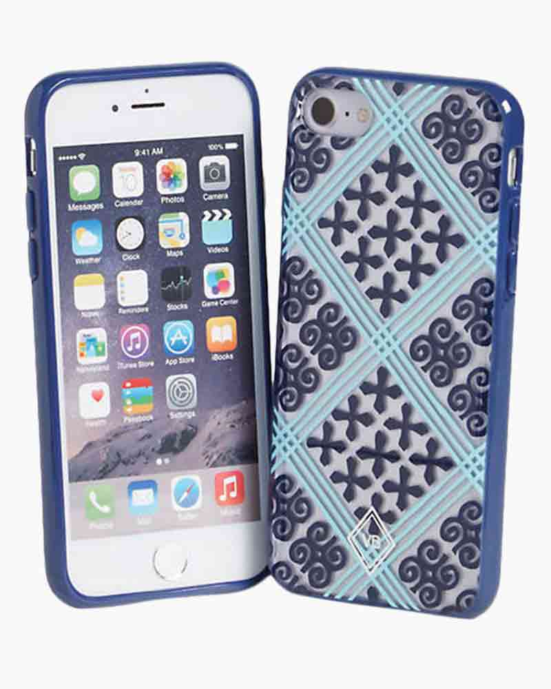 Vera Bradley Flexible Frame Case for iPhone 7 in Cuban Tile