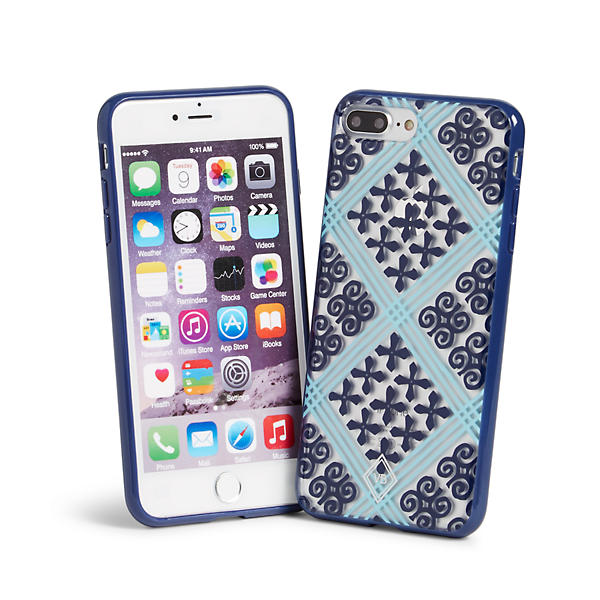 Vera Bradley Flexible Frame Case for iPhone 7+ in Cuban Tile