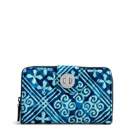 Vera Bradley RFID Turnlock Wallet in Cuban Tiles