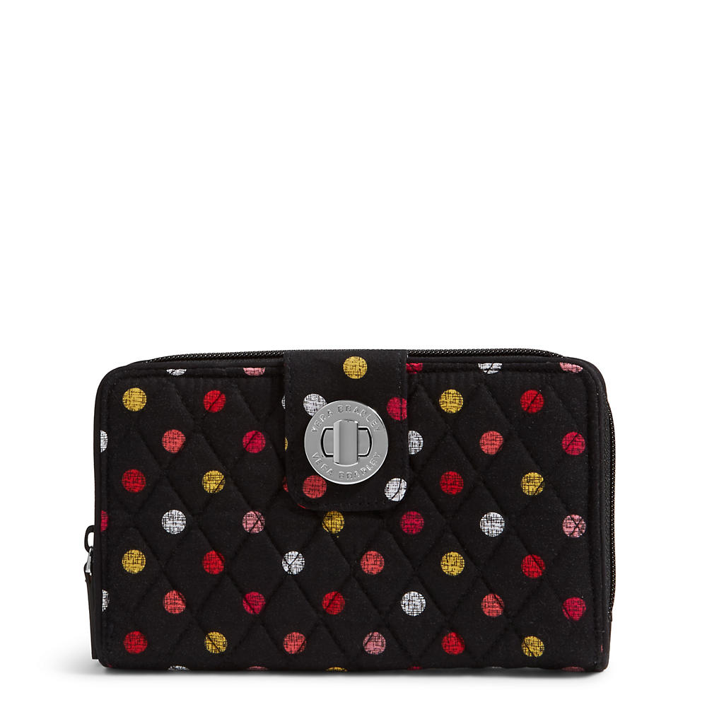 Vera Bradley RFID Turnlock Wallet in Havana Dots