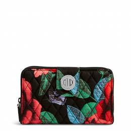 Vera Bradley RFID Turnlock Wallet in Havana Rose