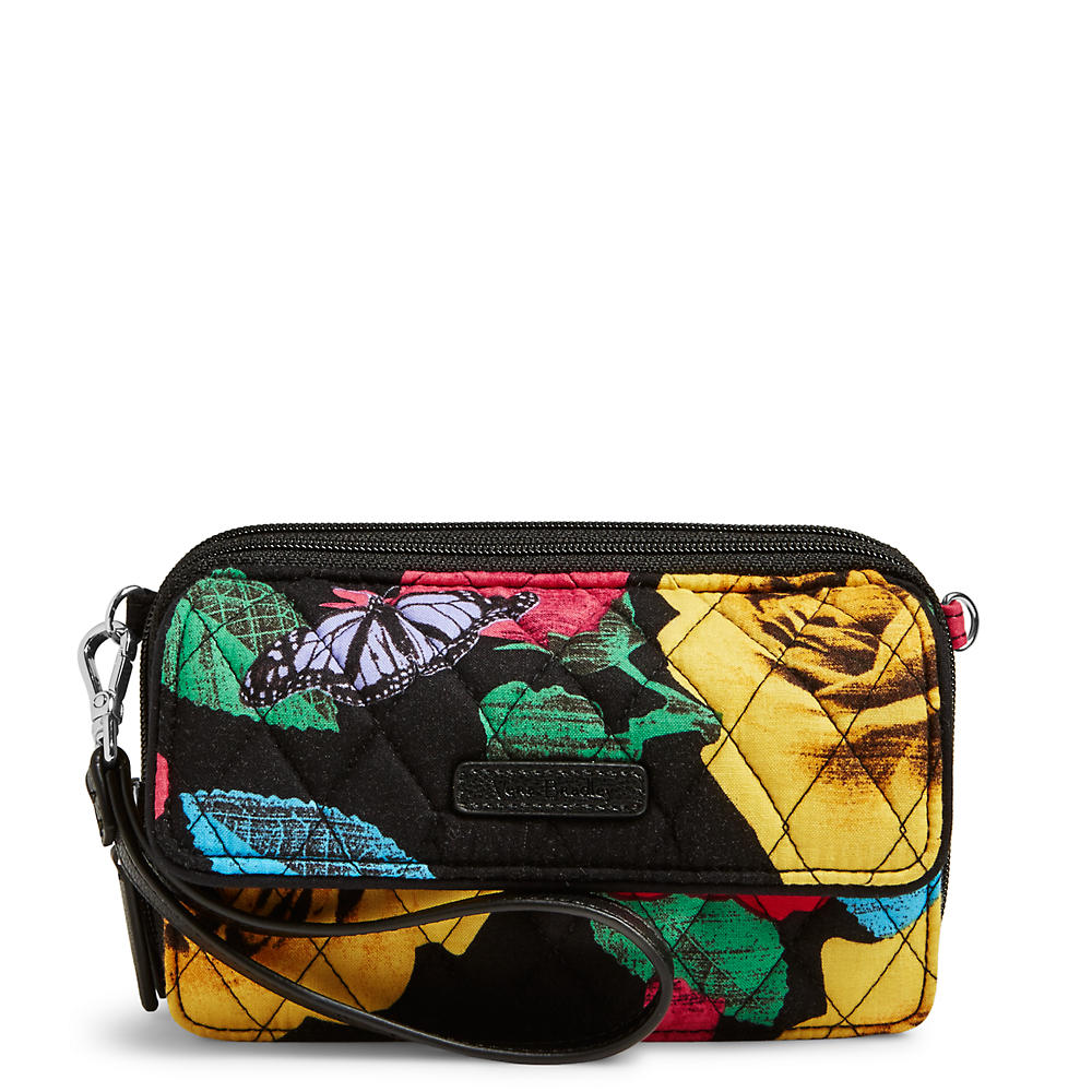 Vera Bradley RFID All in One Crossbody and Wristlet in Havana Rose