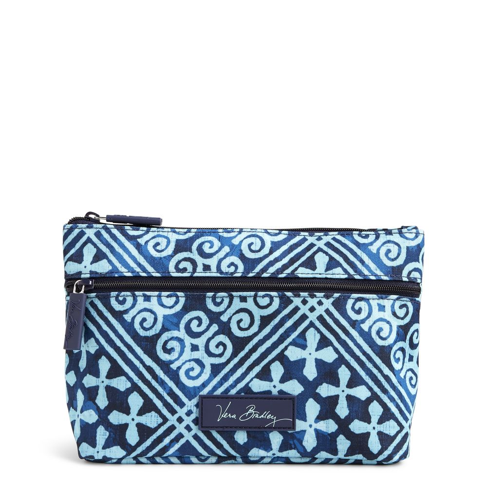 Vera Bradley Lighten Up Travel Cosmetic in Cuban Tile