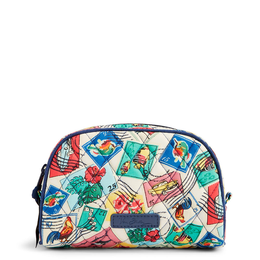Vera Bradley Small Zip Cosmetic in Stamps