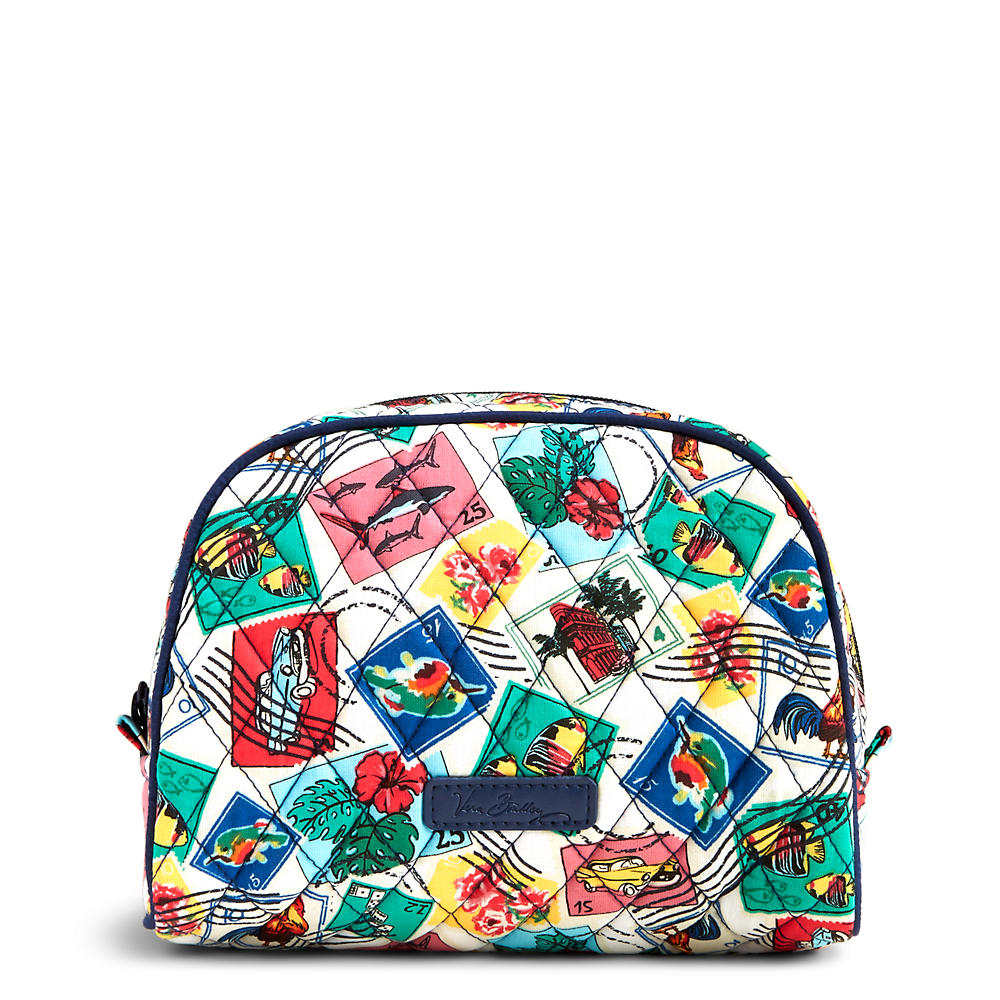 Vera Bradley Medium Zip Cosmetic in Stamps