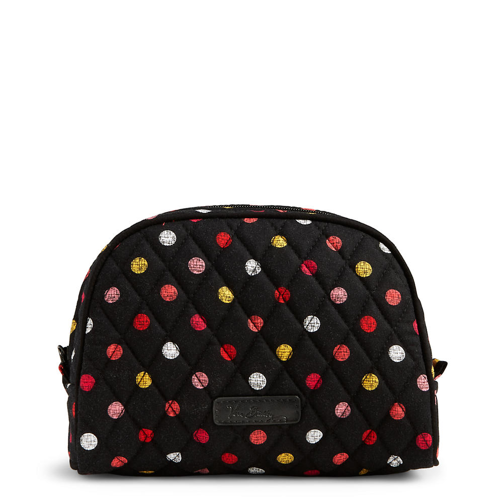Vera Bradley Medium Zip Cosmetic in Havana Dots