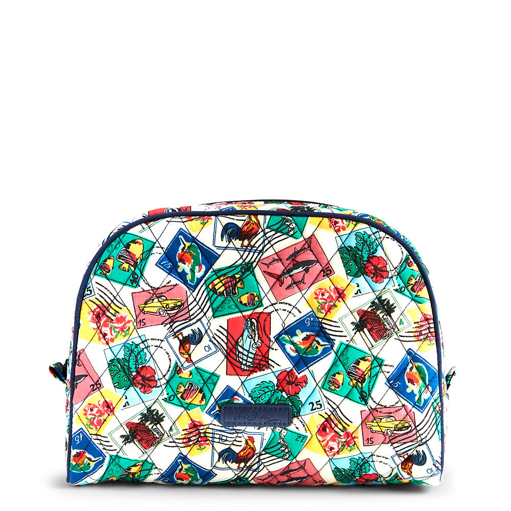Vera Bradley Large Zip Cosmetic in Stamps