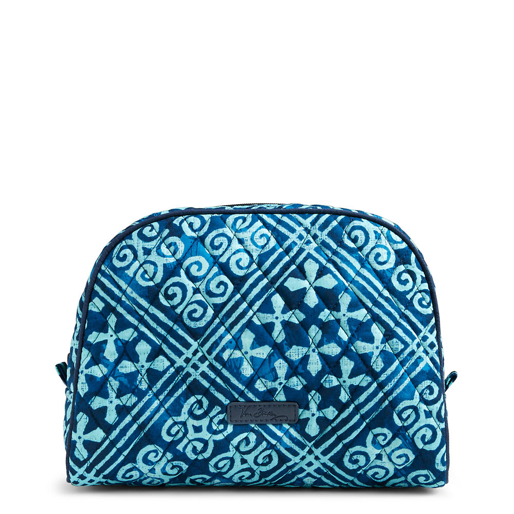 Vera Bradley Large Zip Cosmetic in Cuban Tile