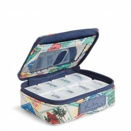 Vera Bradley Travel Pill Case in Stamps